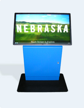 touch screen custom kiosk for Nebraska Tourism