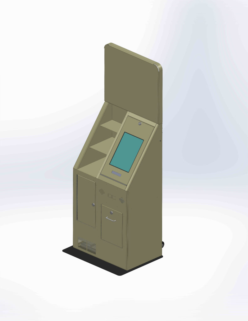 custom kiosk drawing example
