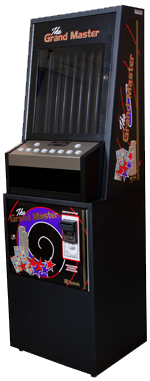 grand master pull tab vending machine in black