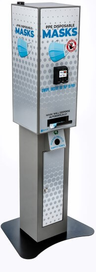 PPE kiosk with stand